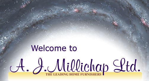 Welocme ot A J Millichap an Isle of Man furniture store